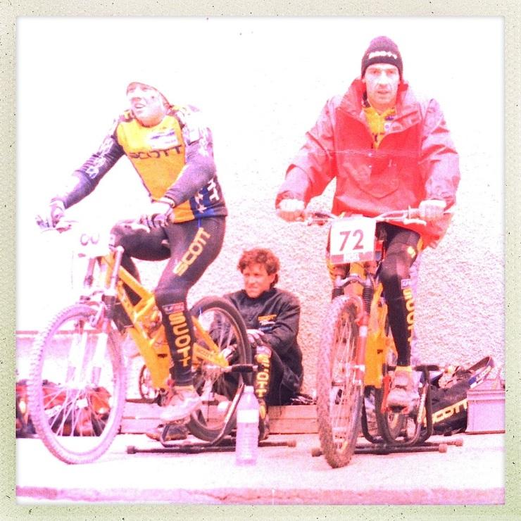 Johan Engström e Alexandre Balaud no aquecimento